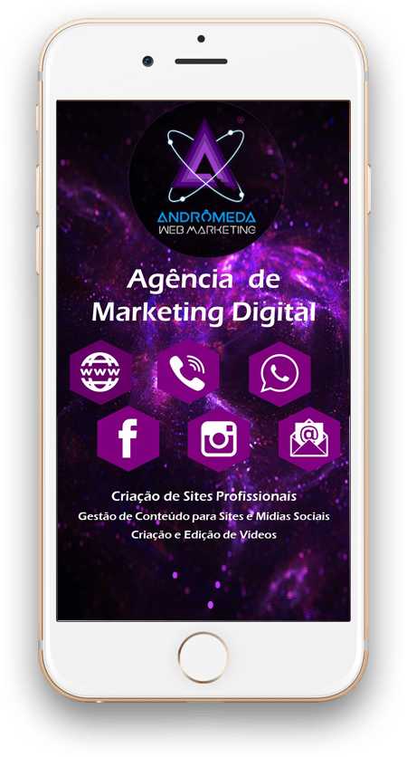 Cartão de Visita Virtual Digital Interativo - Andrômeda Web Marketing