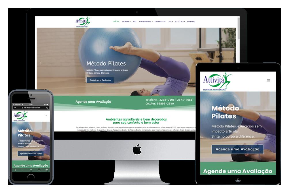 Criação de Sites - Attività Pilates