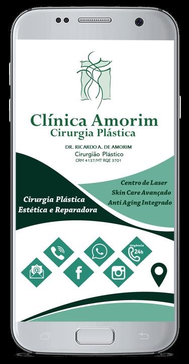 Cartão de Visita Virtual Digital Interativo - Clínica Amorim