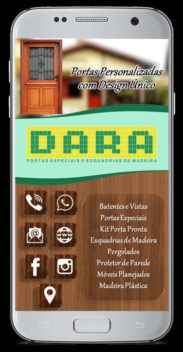 Cartão de Visita Virtual Digital Interativo - Dara Portas