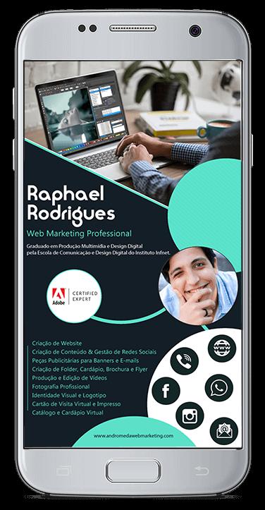 Cartão de Visita Virtual Digital Interativo - Raphael Rodrigues
