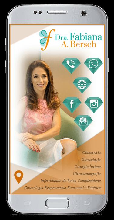 Cartão de Visita Virtual Digital Interativo - Dra. Fabiana Bersch
